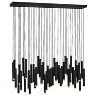 Fredrick Ramond FR49909BLK Harmony LED 48 inch Black Linear Chandelier Ceiling Light