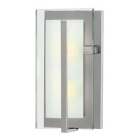 Fredrick Ramond Latitude 2 Light Sconce in Brushed Nickel with Clear Beveled Inside-Etched Glass FR56502BNI