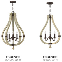 Fredrick Ramond FR40575IRR Middlefield 5 Light 20 inch Iron Rust Foyer Ceiling Light, Single Tier alternative photo thumbnail
