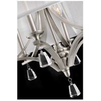 Fredrick Ramond FR45604BNI Mime 4 Light 25 inch Brushed Nickel Chandelier Ceiling Light in Sheer Hardback, Single Tier alternative photo thumbnail