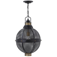 Fredrick Ramond Miramar 1 Light Mini-Pendant in Black FR31437BLK