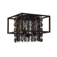 Fredrick Ramond Mercato 3 Light Flush Mount in Anchor Bronze FR32541ABR