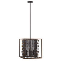 Fredrick Ramond Mercato 4 Light Foyer in Anchor Bronze FR32544ABR