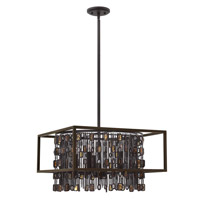 Fredrick Ramond Mercato 5 Light Chandelier in Anchor Bronze FR32545ABR