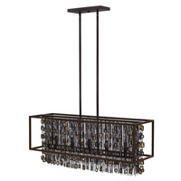 Fredrick Ramond Mercato 5 Light Chandelier in Anchor Bronze FR32548ABR