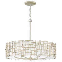 Fredrick Ramond FR33104SLF Farrah 6 Light 28 inch Silver Leaf Chandelier Pendant Ceiling Light