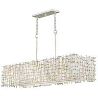 Fredrick Ramond FR33105SLF Farrah 8 Light 48 inch Silver Leaf Linear Chandelier Ceiling Light