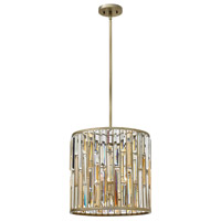 Fredrick Ramond Gemma 3 Light Foyer in Silver Leaf FR33734SLF
