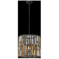 Fredrick Ramond FR33734VBZ Gemma 3 Light 16 inch Vintage Bronze Pendant Ceiling Light alternative photo thumbnail