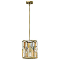 Fredrick Ramond Gemma 1 Light Mini-Pendant in Silver Leaf FR33737SLF