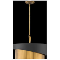 Fredrick Ramond FR34314HBR Gigi 3 Light 21 inch Heritage Brass Pendant Ceiling Light alternative photo thumbnail