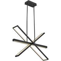 Fredrick Ramond FR34806BLK Tangent LED 36 inch Black Chandelier Ceiling Light