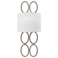 Fredrick Ramond Jules 2 Light Sconce in Brushed Nickel with White Linen Shade FR35600BNI