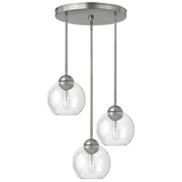 Fredrick Ramond Vivo 3 Light Pendant in Brushed Nickel with Clear Glass FR37512BNI