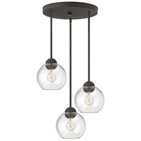 Fredrick Ramond Vivo 3 Light Pendant in Vintage Bronze with Clear Glass FR37512VBZ
