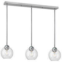Fredrick Ramond Vivo 3 Light Pendant in Polished Chrome with Clear Glass FR37513PCM