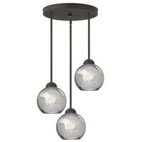 Fredrick Ramond Vivo 3 Light Pendant in Vintage Bronze with Faux Mercury Glass FR37514VBZ