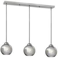 Fredrick Ramond Vivo 3 Light Pendant in Brushed Nickel with Faux Mercury Glass FR37515BNI