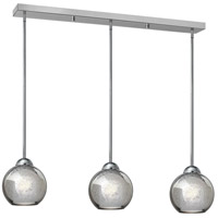 Fredrick Ramond Vivo 3 Light Pendant in Polished Chrome with Faux Mercury Glass FR37515PCM