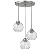 Fredrick Ramond Vivo 3 Light Pendant in Brushed Nickel with Clear Seedy Glass FR37516BNI