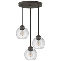 Fredrick Ramond Vivo 3 Light Pendant in Vintage Bronze with Clear Seedy Glass FR37516VBZ