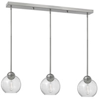 Fredrick Ramond Vivo 3 Light Pendant in Brushed Nickel with Clear Seedy Glass FR37517BNI