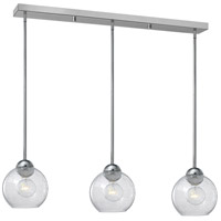 Fredrick Ramond Vivo 3 Light Pendant in Polished Chrome with Clear Seedy Glass FR37517PCM