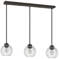 Fredrick Ramond Vivo 3 Light Pendant in Vintage Bronze with Clear Seedy Glass FR37517VBZ