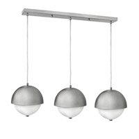 Fredrick Ramond Globe 6 Light Pendant in Brushed Nickel with Etched Opal Glass FR38519BNI