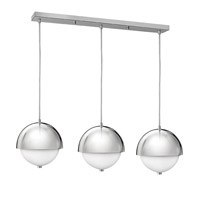 Fredrick Ramond Globe 6 Light Pendant in Polished Chrome with Etched Opal Glass FR38519PCM
