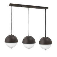 Fredrick Ramond Globe 6 Light Pendant in Vintage Bronze with Etched Opal Glass FR38519VBZ