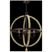 Fredrick Ramond FR40564IRR Middlefield 4 Light 24 inch Iron Rust Chandelier Ceiling Light, Single Tier alternative photo thumbnail