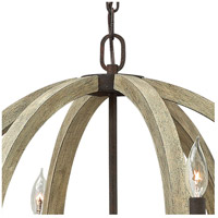 Fredrick Ramond FR40566IRR Middlefield 6 Light 31 inch Iron Rust Chandelier Ceiling Light, Single Tier alternative photo thumbnail