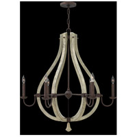 Fredrick Ramond FR40576IRR Middlefield 6 Light 30 inch Iron Rust Chandelier Ceiling Light, Single Tier alternative photo thumbnail