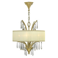Fredrick Ramond FR40774SLF Camilla 4 Light 17 inch Silver Leaf Chandelier Ceiling Light