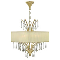 Camilla 5 Light 20 inch Silver Leaf Chandelier Ceiling Light