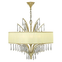 Camilla 6 Light 25 inch Silver Leaf Chandelier Ceiling Light