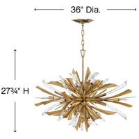 Fredrick Ramond FR40906BNG Vida 13 Light 36 inch Burnished Gold Chandelier Ceiling Light alternative photo thumbnail