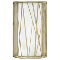 Fredrick Ramond Nest 1 Light Sconce in Silver Leaf with White Scavo Glass FR41612SLF