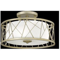 Fredrick Ramond FR41622SLF Nest 3 Light 20 inch Silver Leaf Semi-Flush Mount Ceiling Light in White Scavo alternative photo thumbnail