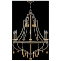 Fredrick Ramond FR42287DIR Cordoba 7 Light 30 inch Distressed Iron Chandelier Ceiling Light, Single Tier alternative photo thumbnail