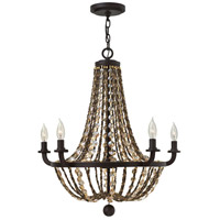 Fredrick Ramond Hamlet 5 Light Chandelier in Vintage Bronze FR42864VBZ
