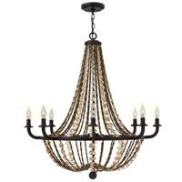 Fredrick Ramond FR42868VBZ Hamlet 8 Light 34 inch Vintage Bronze Foyer Chandelier Ceiling Light