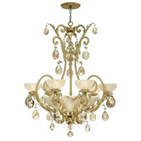 Barcelona 6 Light 38 inch Silver Leaf Chandelier Ceiling Light in Natural Alabaster