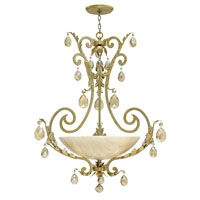 Fredrick Ramond FR44103SLF Barcelona 4 Light 34 inch Silver Leaf Foyer Light Ceiling Light in Natural Alabaster