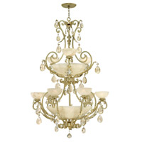 Fredrick Ramond Barcelona 9 Light Foyer Light in Silver Leaf FR44107SLF