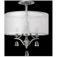 Fredrick Ramond FR45601BNI Mime 3 Light 18 inch Brushed Nickel Semi-Flush Mount Ceiling Light in Sheer Hardback alternative photo thumbnail