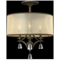 Fredrick Ramond FR45601FBZ Mime 3 Light 18 inch French Bronze Semi-Flush Mount Ceiling Light in Translucent Amber alternative photo thumbnail