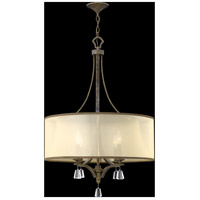 Fredrick Ramond FR45604FBZ Mime 4 Light 25 inch French Bronze Chandelier Ceiling Light in Translucent Amber, Single Tier alternative photo thumbnail