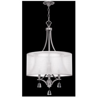Fredrick Ramond FR45606BNI Mime 3 Light 19 inch Brushed Nickel Chandelier Ceiling Light in Sheer Hardback alternative photo thumbnail